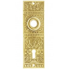 Brass Door  Handle Plate [Small Windsor Pattern Back Plate]
