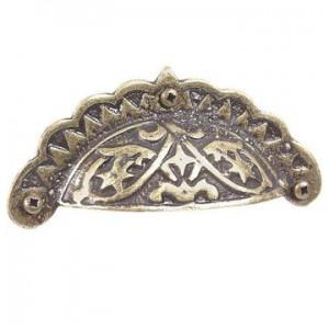 Antique Brass Decorative Bin Pull