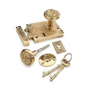 Brass Rim Lock with keys