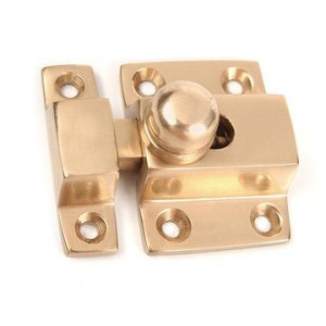 Brass Cabinet Latch with round button
